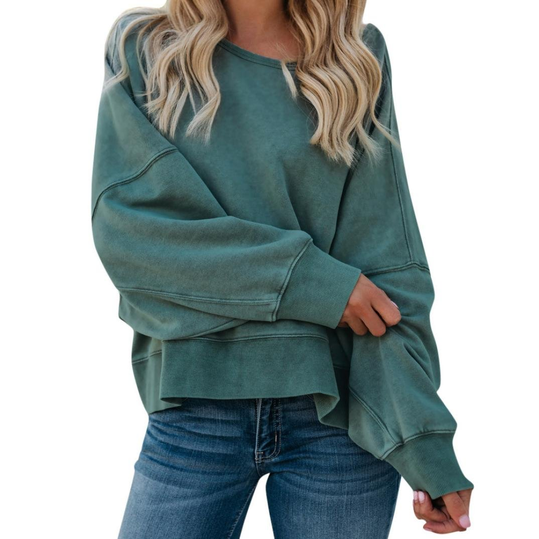 Orangeskycn Sweatshirts For Women Casual O Neck Backless Shirt Pullovers Tops Blouse