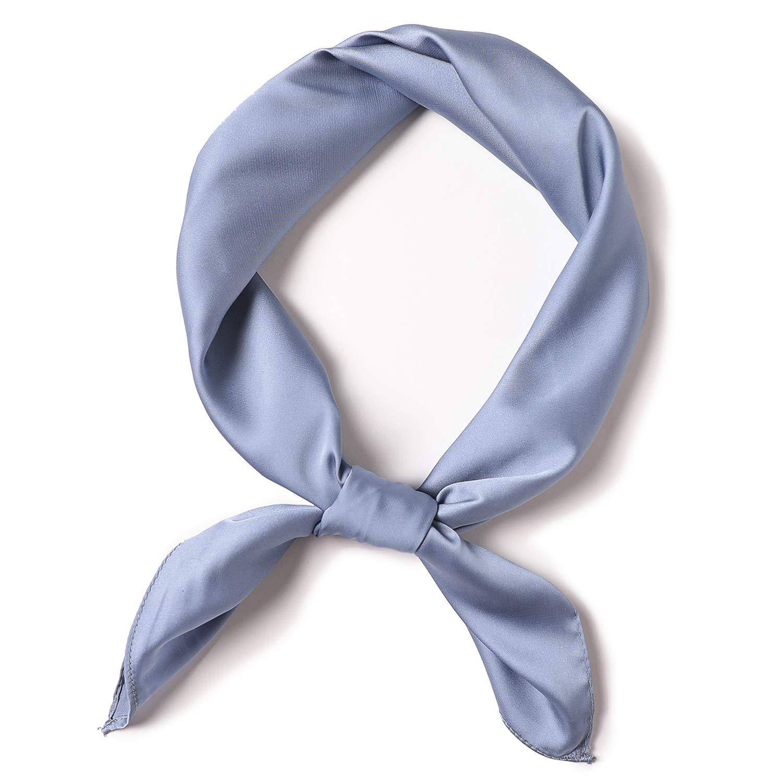 in seta vari colori JFan Sciarpa da donna sciarpa per donne e ragazze tinta unita morbida al tatto quadrata