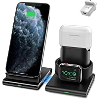 ALFAN Wireless Charger, 3 in 1 Wireless Charging Station for Apple Watch, AirPods Pro/2, Detachable and Magnetic…