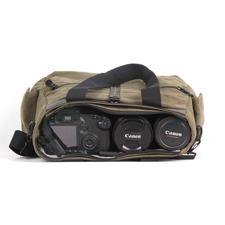 Amazon.com: Besnfoto - Bolsa de lona para cámara réflex ...