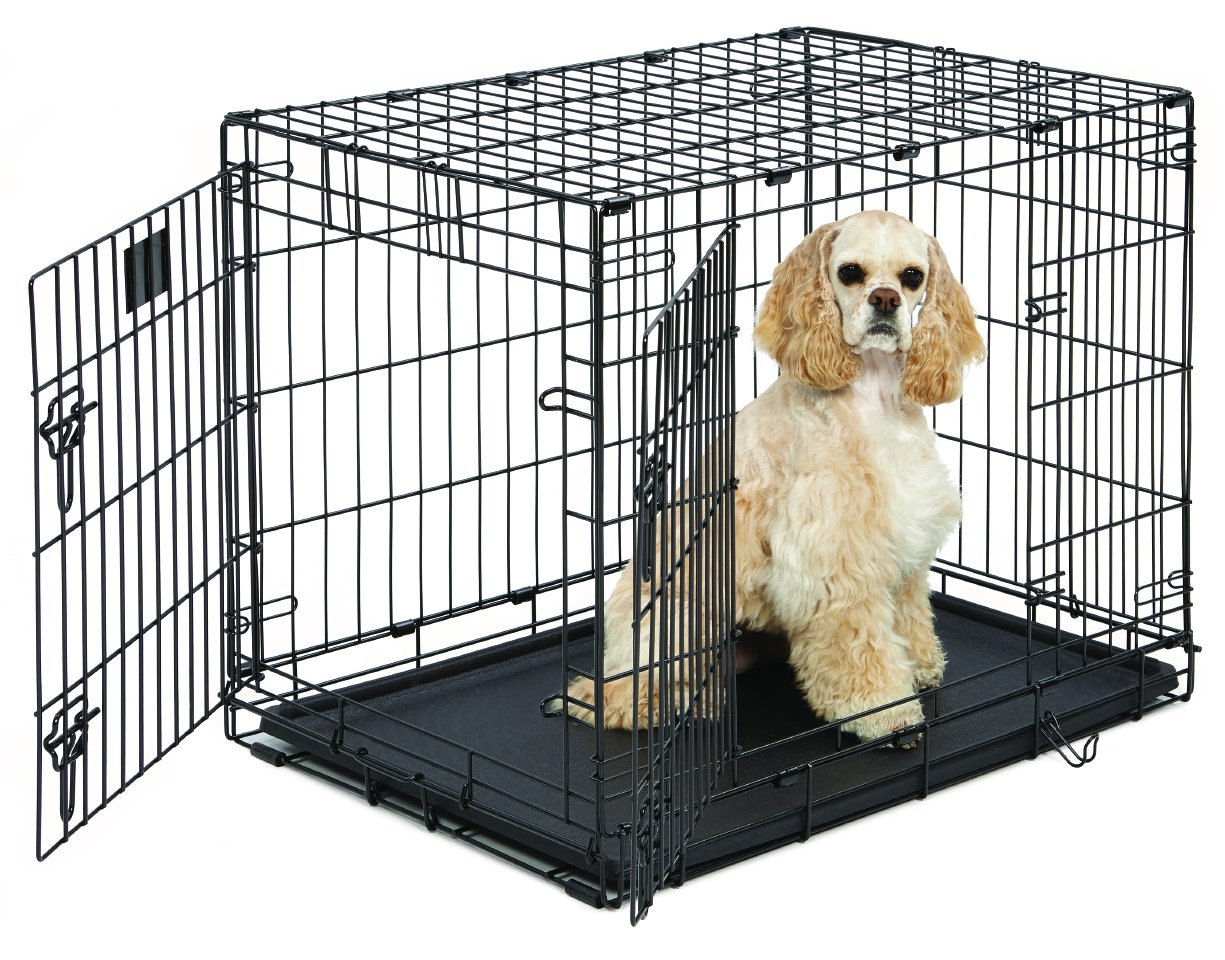 Midwest Life Stages Folding Metal Dog Crate Double Door 30