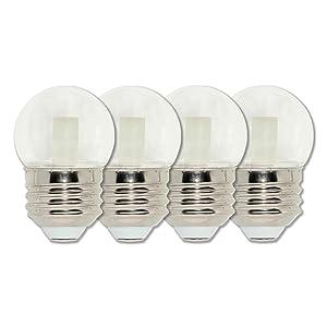 Westinghouse Lighting 4511320 7.5-Watt Equivalent S11 Clear LED Light Bulb with Medium Base, Four Pack