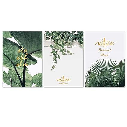 Amazon com: MISDECOR 3 PCS Nature Botanical Mood Quote