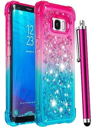 Amazon.com: CAIYUNL - Carcasa para Galaxy S8 con purpurina ...