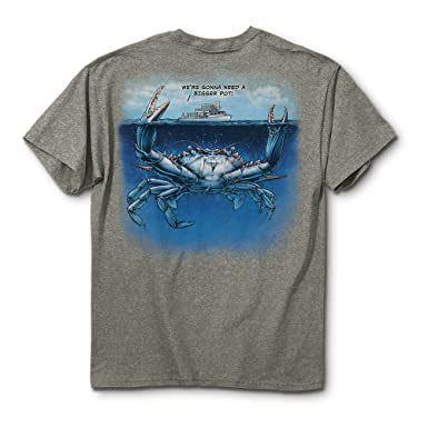 quality design 1d20d 0c063 Mojo Art We Are Going to Need a Bigger Boat Maryland Crab T-shirt (