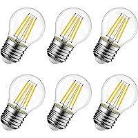 LVWIT Bombillas Golf de Filamento LED E27 (Casquillo Gordo) - 4W equivalente a 40W,…