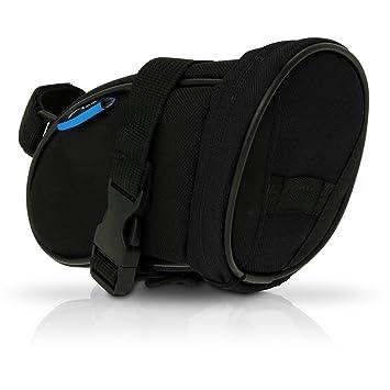 igadgitz Grande Negro Bolsa para Sillín de Bicicleta Resistente al Agua Wedge Pack de Asiento