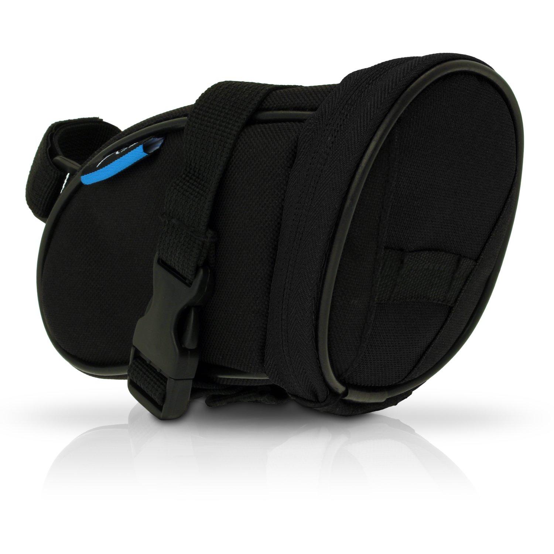 igadgitz Grande Negro Bolsa para Sillín de Bicicleta Resistente al Agua Wedge Pack de Asiento product