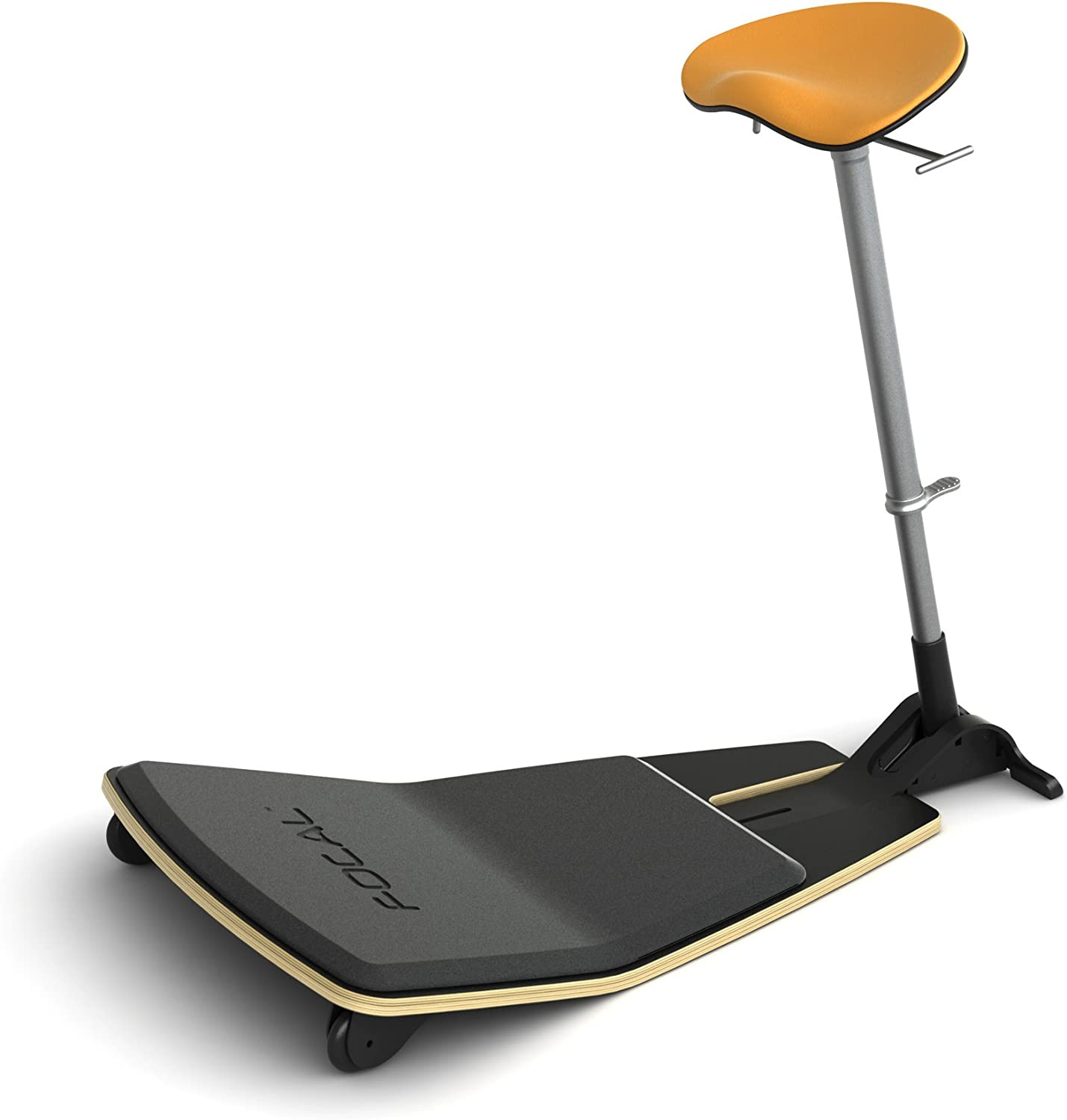Active Collection Locus Mobile Stand-up Leaning Seat with Foot Rest Platform, Citrus