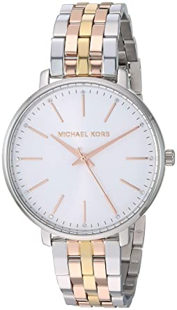 3cc03e962 Amazon.com: Michael Kors Women's Pyper Watch, 38mm, Silver/Gold, One ...