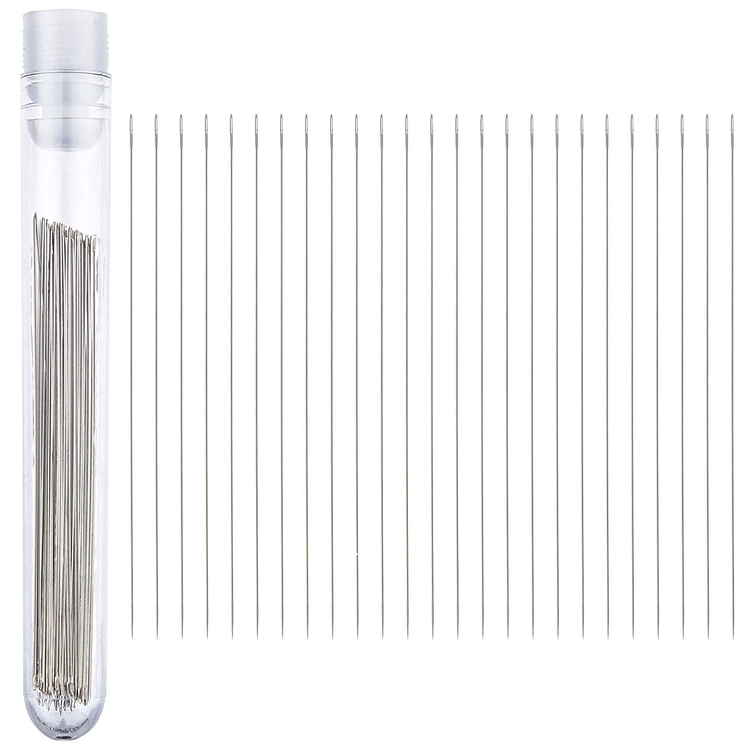 with Needle Storage Tube ​ Beading Needles Size 11 25pcs