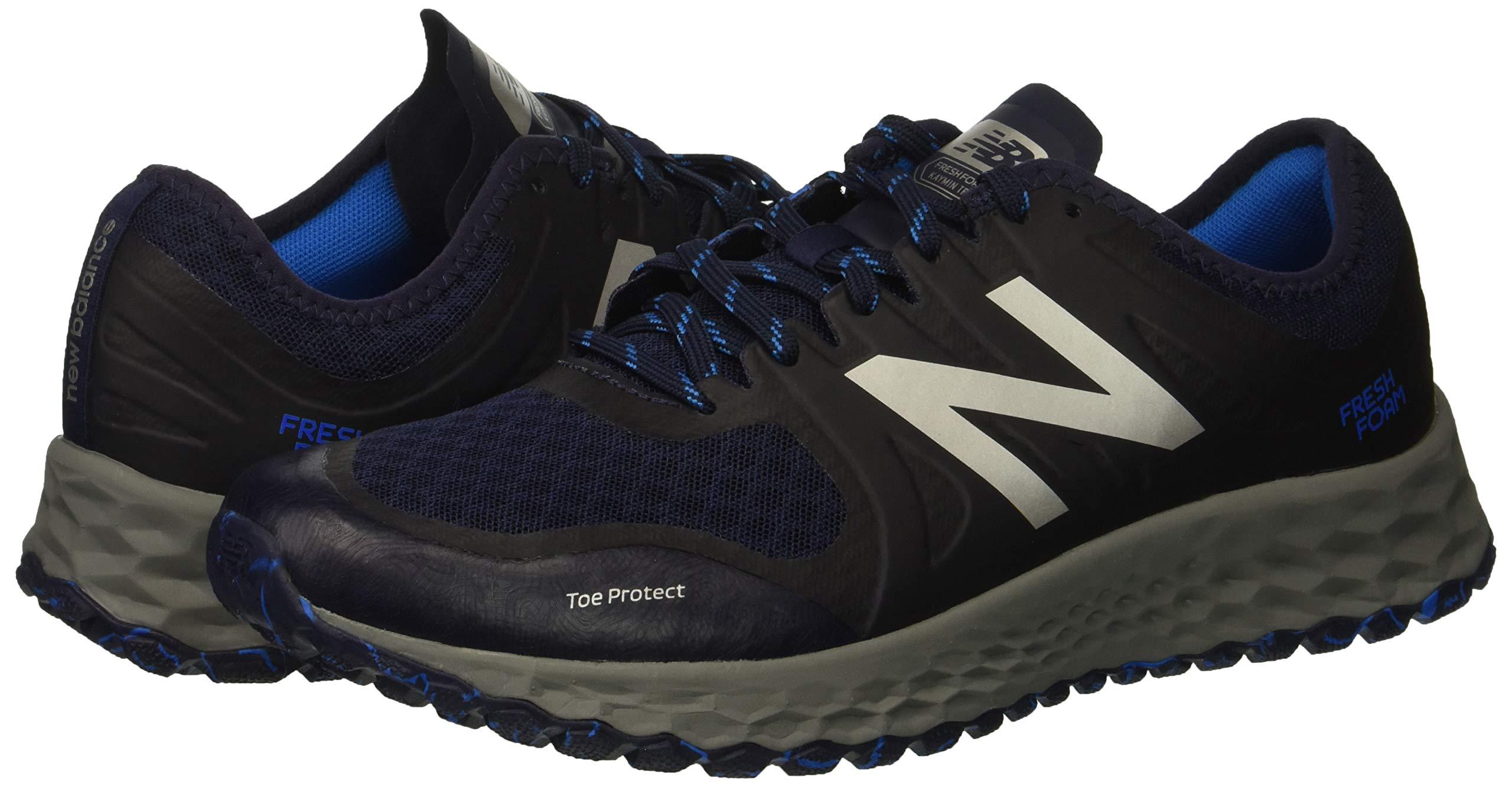 New Balance Men's Kaymin V1 Fresh Foam Trail Running Shoe Pigment/Laser Blue 1.5 D US by New Balance (Image #6)