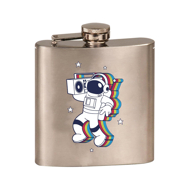 大きな取引 Rockinスペースマン宇宙飛行士W –/ブームボックスカラフル – B07DGLB911 3dカラープリント6オンスステンレス鋼フラスコ(スチールシルバー) B07DGLB911, follows:2ae528b7 --- a0267596.xsph.ru