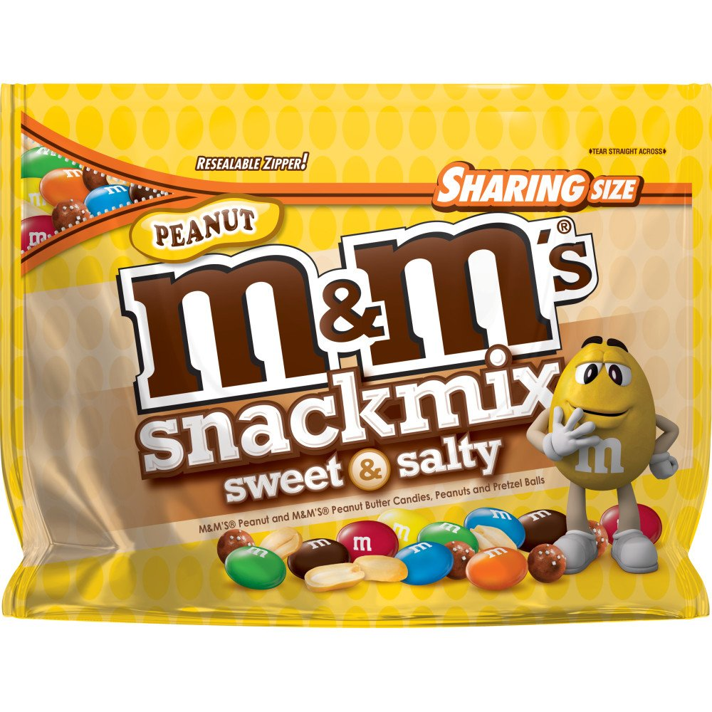 M&M's Milk Chocolate Peanut Sweet & Salty Snack Mix, 7.7 Ounce (Pack of 8) by M&M'S