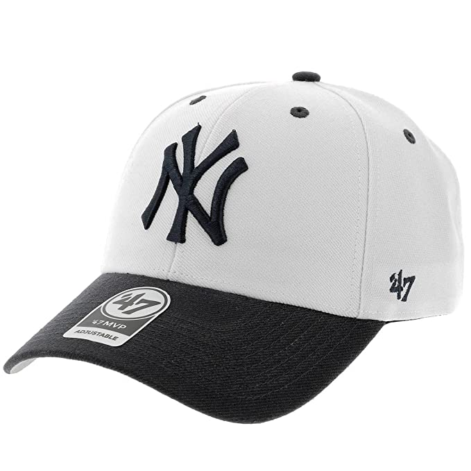 Gorra 47 Brand - Mlb New York Yankees Mvp Curved V Struct fit blanco/azul talla: Ajustable: Amazon.es: Ropa y accesorios