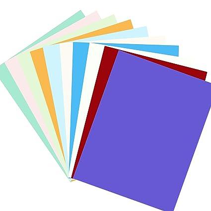 Liwute Tarjetas de papel para manualidades 50 hojas 10 ...