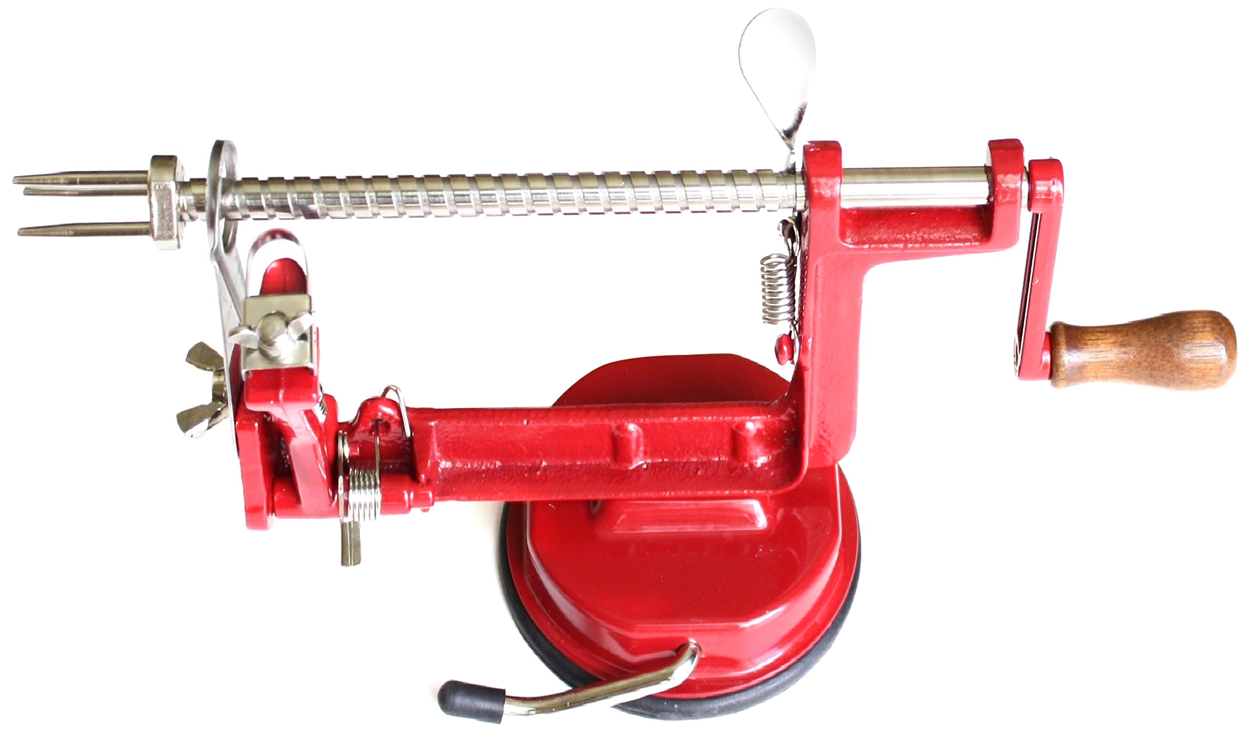 Cook N Home Apple and Potato Peeler/Corer with Suction Base, Red