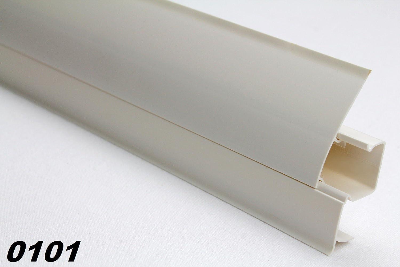 Innenecken f/ür PVC Sockelleisten Fu/ßleisten Modern Sockel Modell:101A Kabelkanal