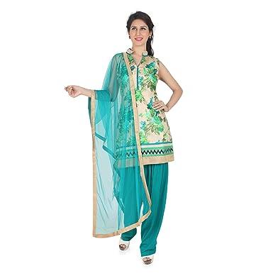 5036af1339 BEDI'S Patiala Salwar Suit Indian Salwar Kameez Bollywood Party wear (S -  Small, Emerald