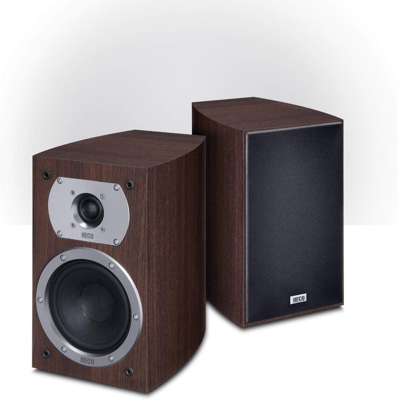 Heco D1345822P Victa Prime 202 - Altavoces para estanterías estéreo y home cinema, 1 Par