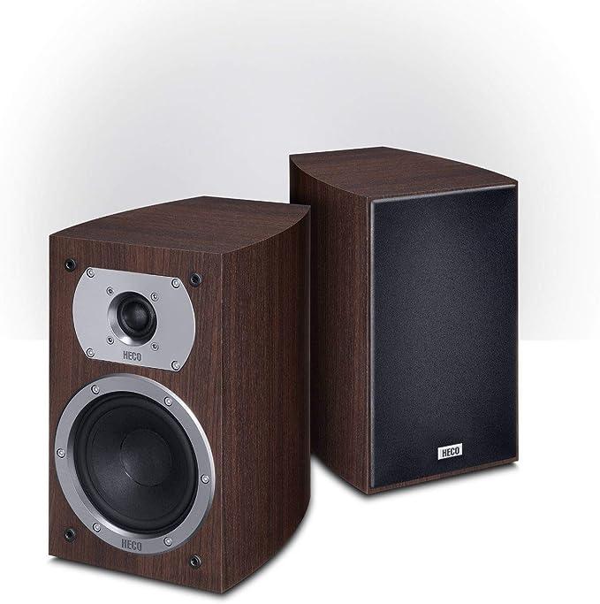 Heco Victa Prime 202 2 Wege Heimkino Und Stereo Regallautsprecher 1 Paar Farbe Espresso Audio Hifi