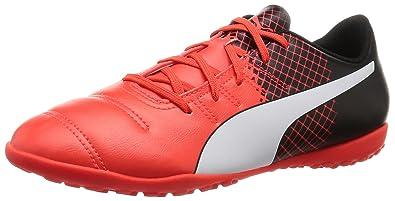 Puma Ep 4.3 Tt Jr F6, Chaussures De Football Enfant, Rojo (blk / Wht / Rouge), 28 I