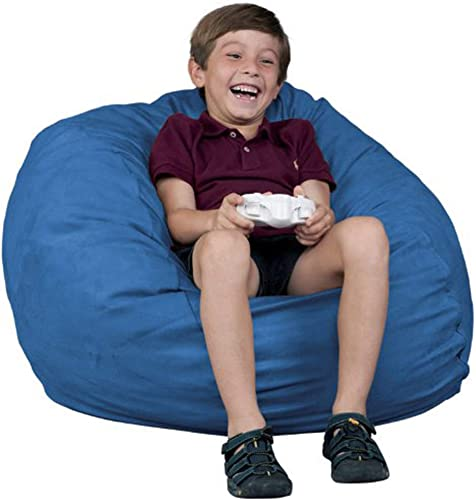 FUGU Kids Beanbag Chair, Premium Foam Filled 2 , Protective Liner Plus Removable Machine Wash Sky Blue Cover, Sky Blue