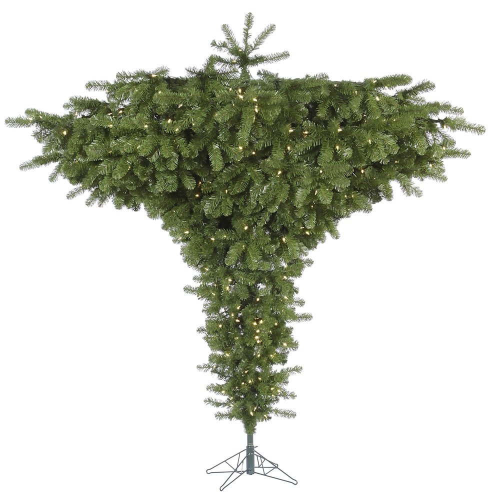 amazoncom vickerman 75 upside down artificial christmas tree with 650 clear lights home kitchen - Upside Down Christmas Tree Decorated