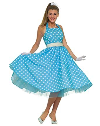 Attractive Summitfashions 50s Costume Soc Hop Dress Fifties Theatre Costumes Sizes:  One Size