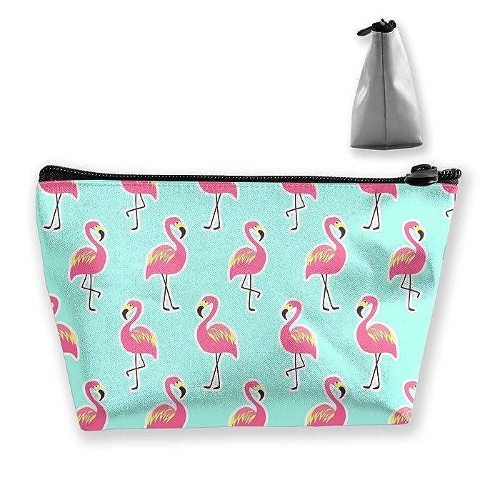 d951617444dd Amazon.com: Pink Flamingo Pattern Travel Makeup Bag Multifunction ...