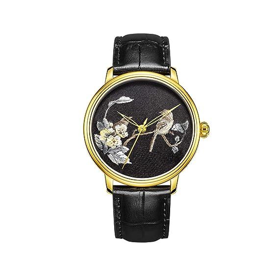 CHIYODA Elegante Reloj de Bordado con Estuche Dorado Reloj de ...