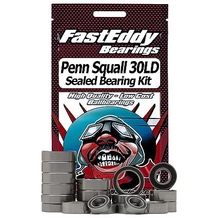 Penn Squall 30LD Fishing Reel Rubber Sealed Bearing Kit