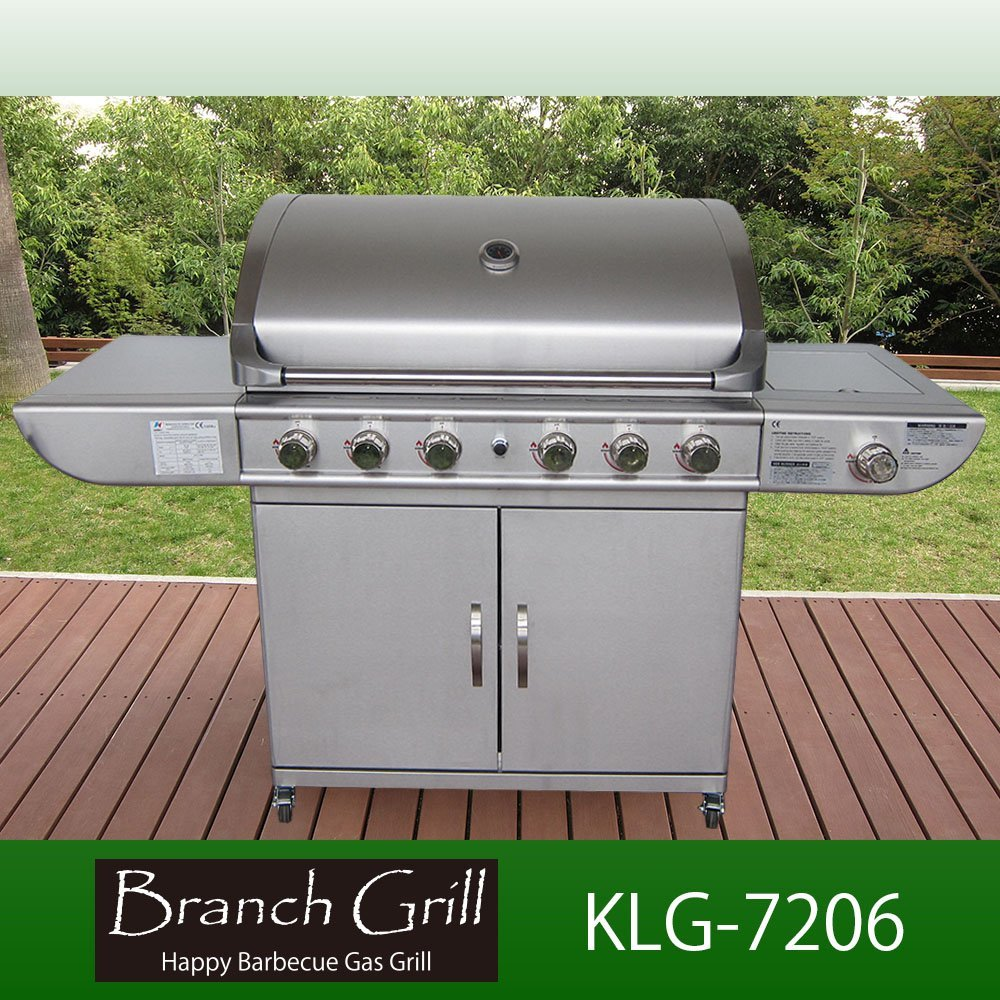 大型BBQガスグリル 大人6人~15人分程度の調理が一度に可能な本格派グリル B00B4T8XUA