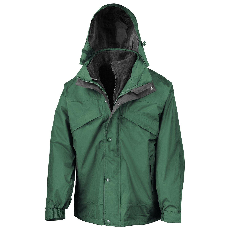 Result 3-in-1 zip and clip jacket Bottle/ Black L