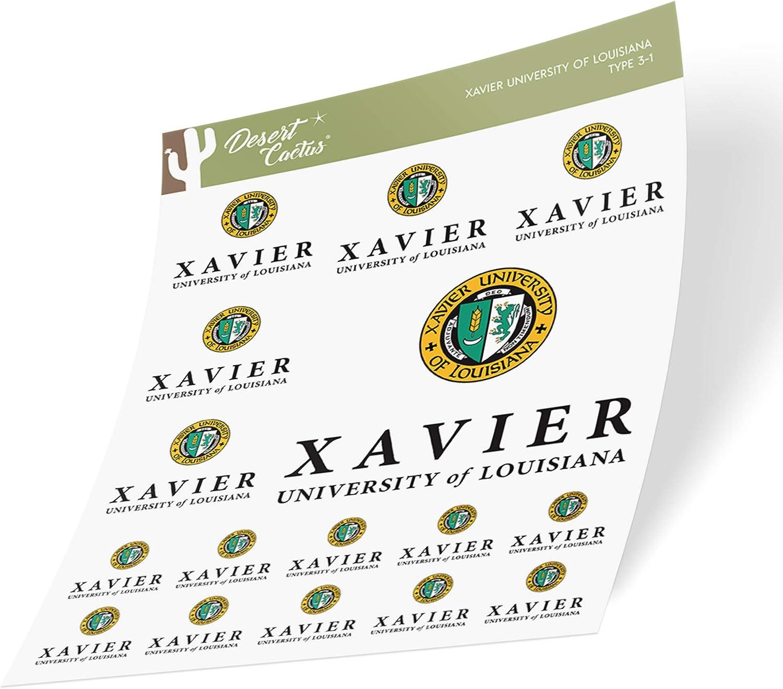 Xavier University of Louisiana XULA Gold Rush Nuggets NCAA Sticker Vinyl Decal Laptop Water Bottle Car Scrapbook (Sheet Type 3-1)