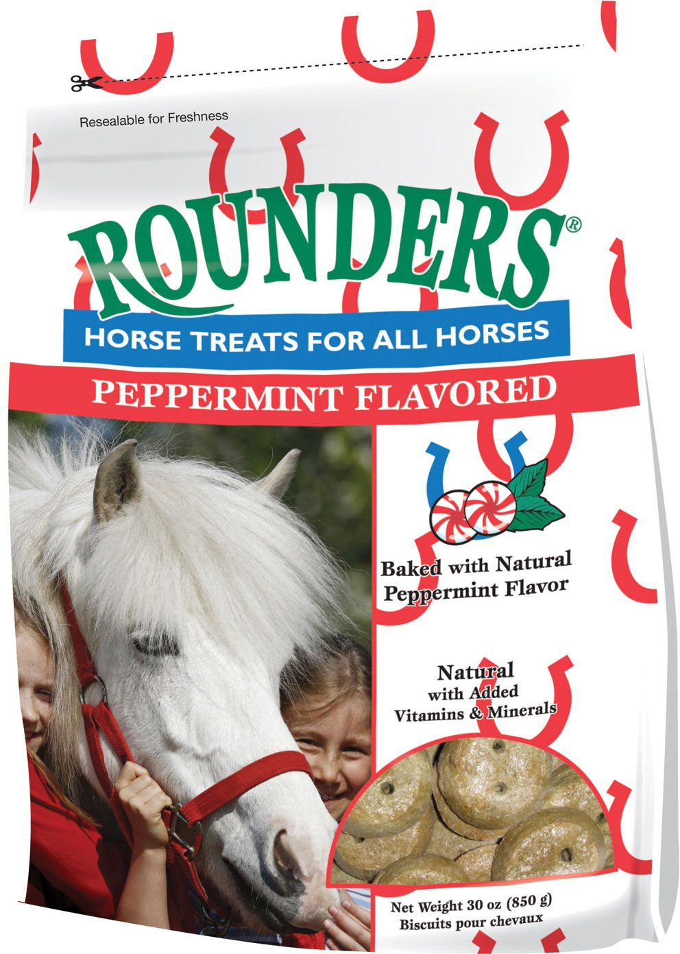Peppermint Rounders Horse Treat 30 oz.