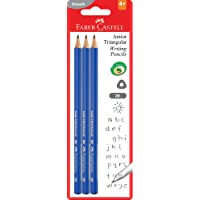 Faber-Castell Junior Triangular Graphite Pencil 2B, 3 Pack, (12-1165-2B-3EP-10)