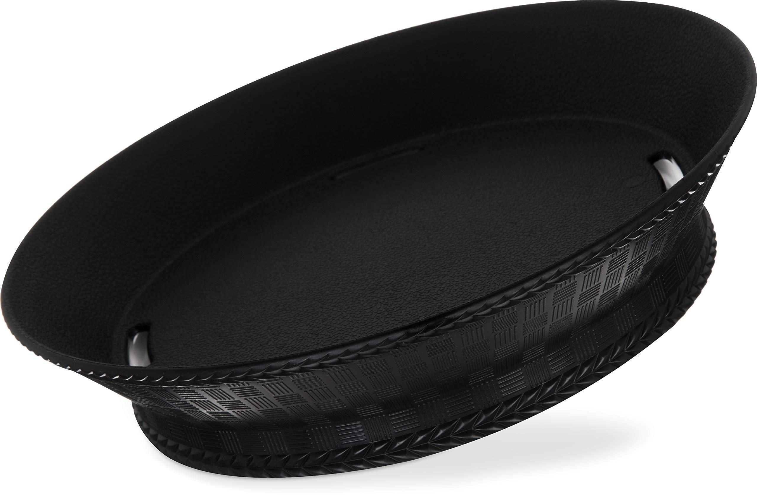 Carlisle 652803 WeaveWear Round Serving Basket, 9'', Black (Pack of 12) by Carlisle (Image #2)