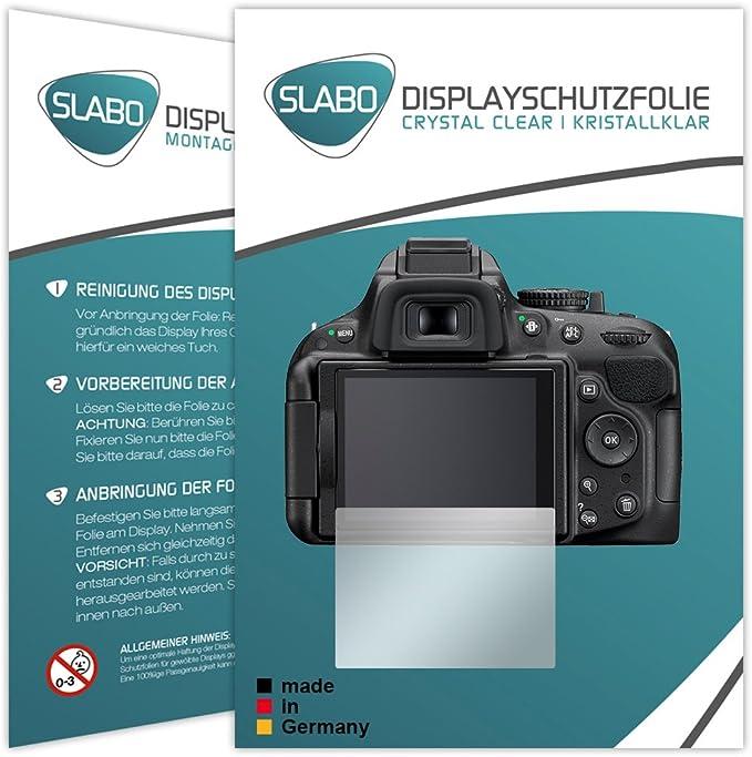 4 St/ück Displayschutzfolie SWIDO Displayschutz f/ür Nikon D5200 Hoher H/ärtegrad Schutz vor /Öl Staub und Kratzer//Schutzfolie Kristall-Klar Panzerglas Folie