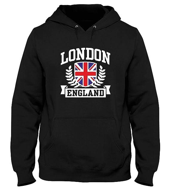 T-Shirtshock Sudadera con Capucha Hombre Negro DEC0491 London England: Amazon.es: Ropa y accesorios