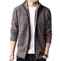 Howme-Men Juniors Knitwear Oversize Thick Zipper Jersey Cardigan