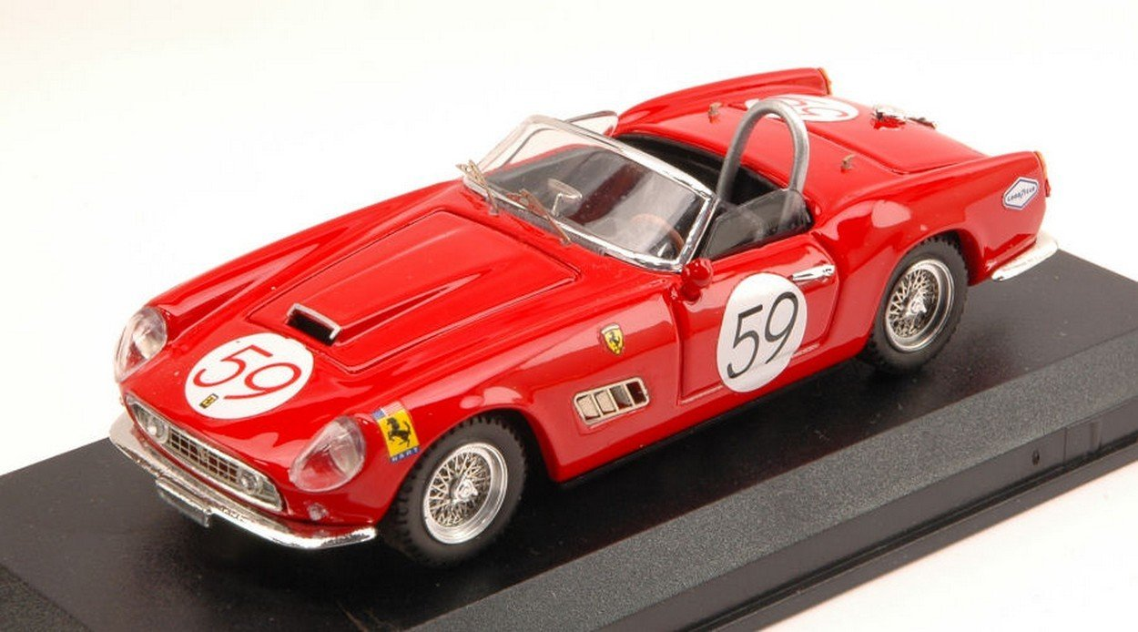 Art-Model AM0270 Ferrari 250 California N.59 Nassau 1961 A.Wylie 1 43 DIE CAST kompatibel mit