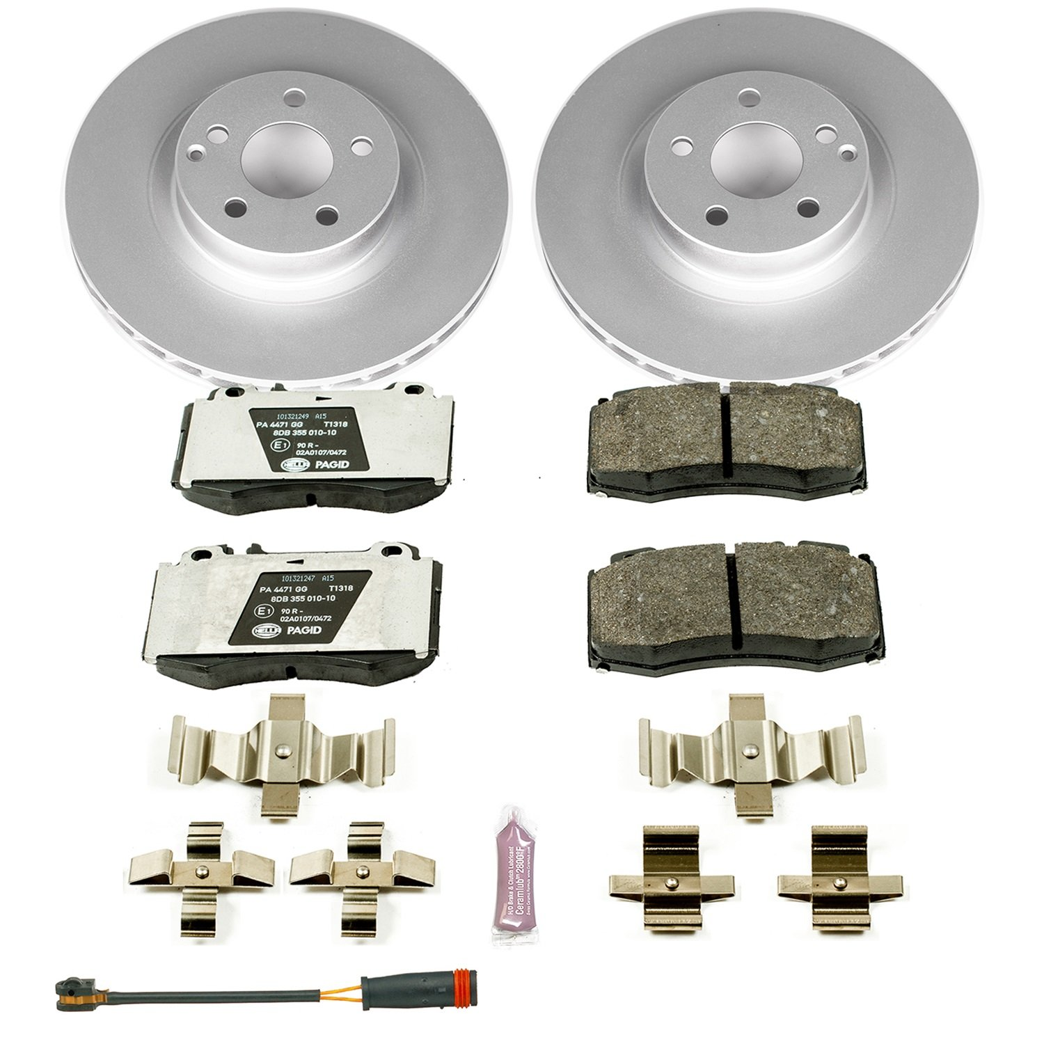 Power Stop ESK6601 Front Euro-Stop Brake Kit by Power Stop