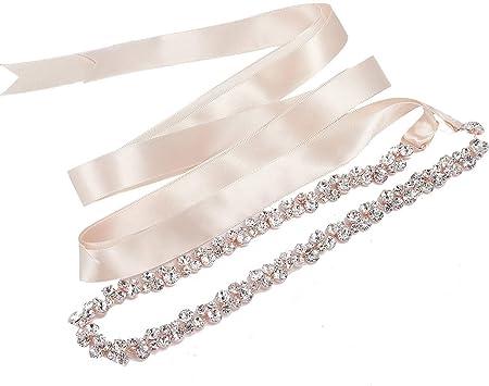 Sweetv Rhinestone Bridal Belt Wedding Dress Belt Crystal Bride Bridesmaids Sash Belt Rose Gold Amazon Ca Luggage Bags