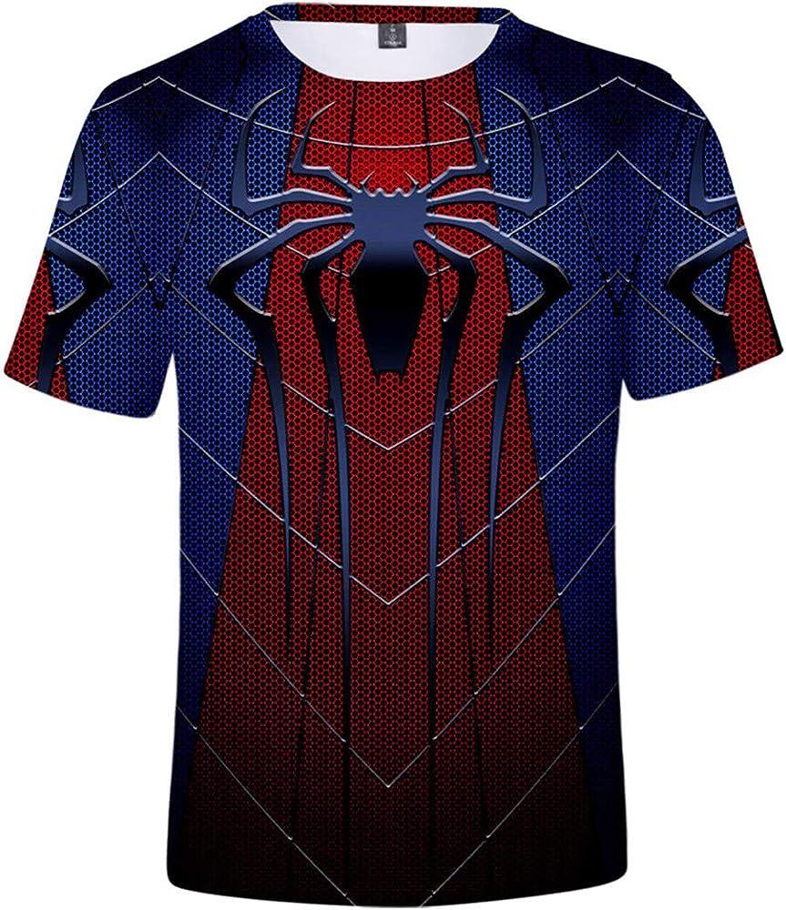 Silver Basic Camiseta de superhéroe para Hombre Top de Manga Corta con Cuello Redondo de Spiderman Azul XXS…: Amazon.es: Ropa y accesorios