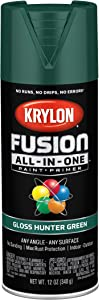 Krylon K02789007 Fusion All-In-One Spray Paint for Indoor/Outdoor Use, Gloss Hunter Green