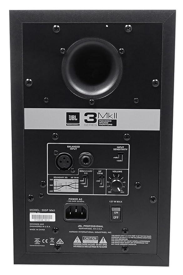 Amazon.com: (2) monitores de referencia de estudio JBL 305P ...