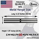 Lapetale Fashion Medal Hanger Awards Holder Display Rack for 60 Medals Use for All Sports Black Steel Medal Hanger Holder,Race Medal Display Holder,Running Medal Hangers,Hanger formedals,Black Kings