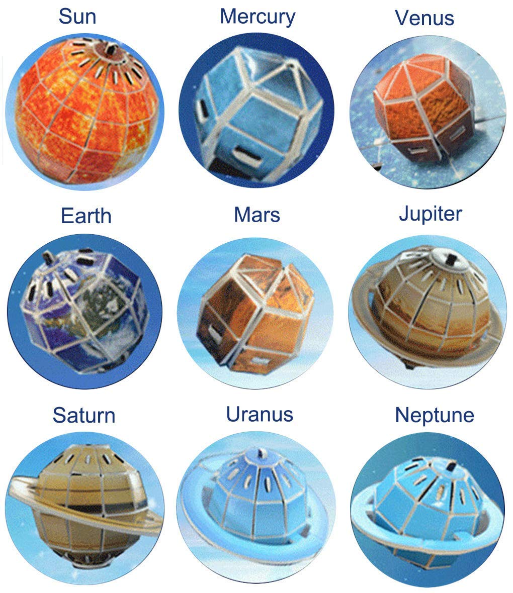 Space Kids Solar System Outer Space 3D Puzzle Educational Toy STEM Toys for Boys and Girls Brain Teaser Puzzles Children Space Toys Cool School Project Science Toys - 146 Pieces by Chanys