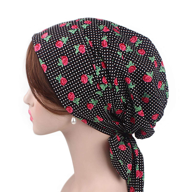 DHSPKN Chemo Headwear Cancer Cap for Women Sleep Headscarf Bonnet Headwrap by DHSPKN